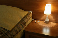 De lamp van het bed Stock Afbeelding