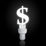 De lamp van het dollarteken Stock Foto's