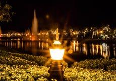 De lamp van de tuin op gras royalty-vrije stock fotografie