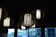 De lamp-lamp wordt uniek ontworpen en is in het bijzonder Stock Foto