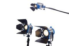 De lampen van de film die op wit worden geïsoleerde Stock Foto