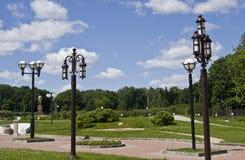 De lampen van de tuin Stock Foto's