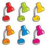 De lampen van het bureau Stock Foto