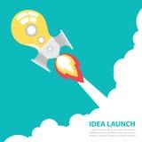 De lancering van de ideeraket stock illustratie