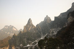 De land scape mening van tien mansan bij zhangjiajie royalty-vrije stock fotografie