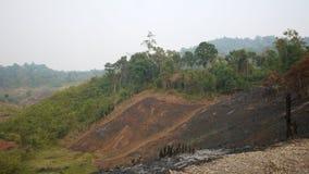 De landbouw van de schuine streep en van de brandwond in Thailand stock afbeeldingen