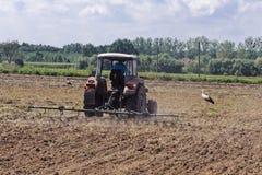 De Landbouw van de tractor Stock Afbeelding