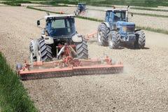 De landbouw van tractoren Stock Afbeeldingen