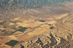 De landbouwbedrijven van Californië van de lucht Royalty-vrije Stock Afbeelding