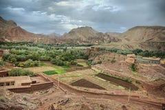 De landbouwbedrijven van de Dadesvallei, Marokko royalty-vrije stock afbeeldingen