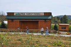 De Landbouwbedrijven van de Robafamilie in de Gemeente van het Noordenabington in Pennsylvania stock foto's