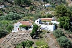 De landbouwbedrijven van het land in de bergen, Andalusia stock fotografie