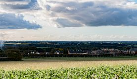 De Landbouwbedrijven van het westenlancashire royalty-vrije stock fotografie