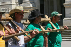 De landbouwers protesteren Royalty-vrije Stock Foto
