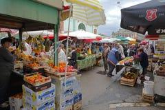 De Landbouwersmarkt van Rijeka Stock Afbeelding