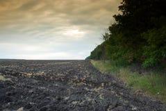De landbouwgebied van de braakakker Royalty-vrije Stock Afbeeldingen