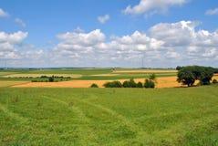 De Landbouwgrond van het land in Luxemburg royalty-vrije stock afbeelding