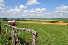 De Landbouwgrond van het land in Luxemburg royalty-vrije stock foto