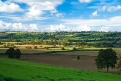 De Landbouwgrond van het platteland Stock Afbeelding