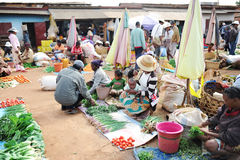 De landbouwmarkt in Antananarivo madagascar Royalty-vrije Stock Foto