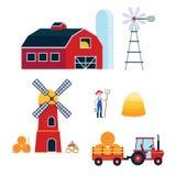 De landbouwreeks van het de landbouw harvecting materiaal royalty-vrije illustratie