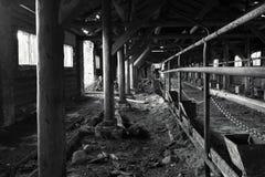 De landelijke Ruïnes van het Landbouwbedrijf Royalty-vrije Stock Afbeeldingen