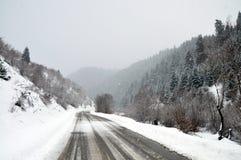 De landelijke weg van de winter royalty-vrije stock fotografie