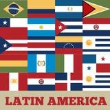 de landen van Latijns Amerika stock illustratie