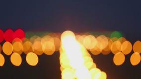 De landende luchthaven van de lichtenbaan stock videobeelden