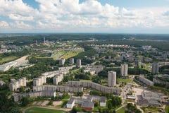 De landgoederen van de huisvesting in Vilnius royalty-vrije stock afbeeldingen
