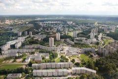 De landgoederen van de huisvesting in Vilnius royalty-vrije stock foto