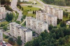 De landgoederen van de huisvesting in Vilnius stock fotografie