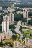 De landgoederen van de huisvesting in Vilnius stock afbeeldingen