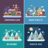 De Landschappen van de de winterreis Royalty-vrije Stock Fotografie