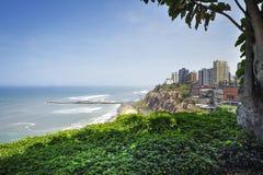 De landschappen van de Mirafloresstad in Lima, Peru Royalty-vrije Stock Afbeelding