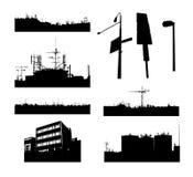 De landschappen van de stad Stock Afbeelding