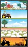 De Landschappen van het landbouwbedrijf vector illustratie