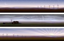 De landschappen van het platteland stock illustratie
