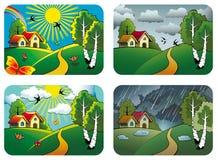 De landschappen van het weer Stock Fotografie
