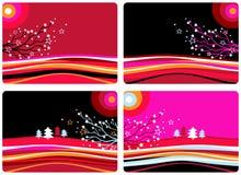De landschappen van Kerstmis Stock Illustratie