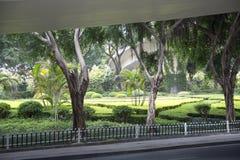 De landschappenontwerp van Nice onder viaductmening Royalty-vrije Stock Foto's