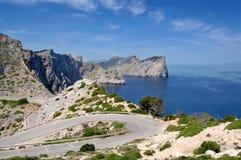 De landtong van Formentor stock foto's