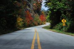 De Landweg van de daling Stock Afbeeldingen