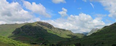 De Langdale pikarna Cumbria Arkivbild