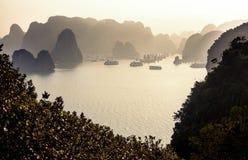 De Lange Baai van Ha, Vietnam stock afbeelding