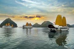 De Lange Baai van Ha, Vietnam stock foto's