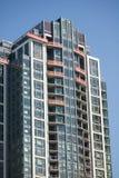 De Lange Bouw van de wolkenkrabber in aanbouw Stock Afbeelding