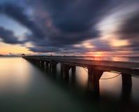De lange brug stock afbeeldingen