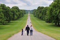 De lange Gang in Windsor Stad, Engeland Stock Foto's