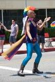 De lange Lesbische en Vrolijke Trots van het Strand Royalty-vrije Stock Afbeeldingen